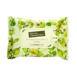 KHĂN GIẤY TẨY TRANG THE FACE SHOP. HERB DAY CLEANSING TISSUE
