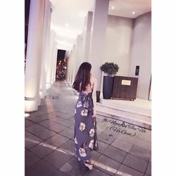Đầm maix hoa chéo lưng _MỎ CHU SHOP