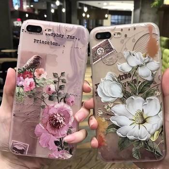 Ốp lưng iphone 7 Plus họa tiết hoa nổi cá tính 2017 K27