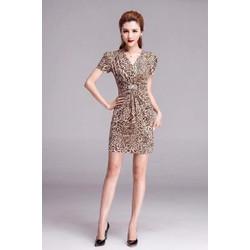 Đầm Da Beo Đính Cườm - D3360