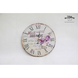 Đồng hồ Vintage bằng gỗ số 22