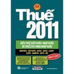 Thuế 2009 - Biểu Thuế Xuất Khẩu - Nhập Khẩu Thuế GTGT Hàng Nhập Khẩu