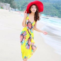 Khăn tắm đi biển đa năng Hoa Hướng Dương Vàng