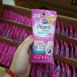 Khăn giấy tẩy trang mắt môi du lịch tiện dụng Biore