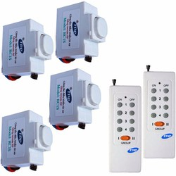 Bộ 4 công tắc điều khiển từ xa có hẹn giờ và 2 remote RC1S-4c2R8