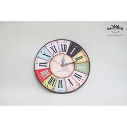 Đồng hồ Vintage bằng gỗ số 23
