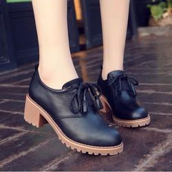 giày bốt nữ cổ thấp đế cao