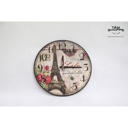 Đồng hồ Vintage băng gỗ số 17