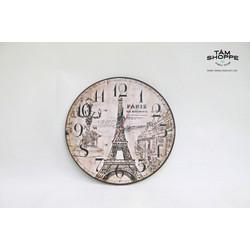Đồng hồ Vintage bằng gỗ số 21