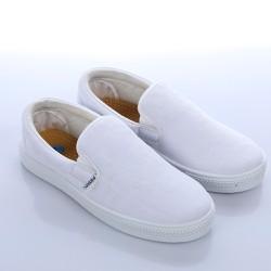 Giày lười thể dục trắng tặng vớ
