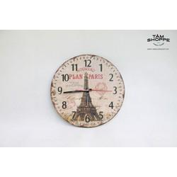 Đồng hồ Vintage băng gỗ số 18
