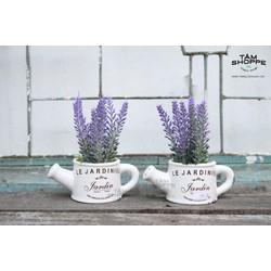 Bình tưới mini gốm hoa Lavender No.32