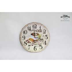 Đồng hồ Vintage băng gỗ số 19