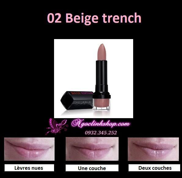 Son Bourjois Rouge Edition 02 Beige Trench 2