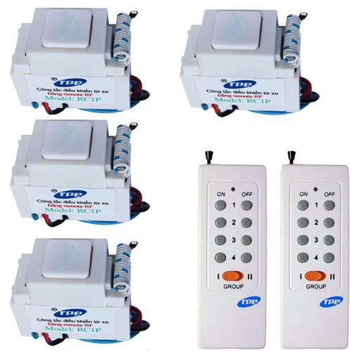 Bộ 4 công tắc điều khiển từ xa TPE RC1P và 2 remote 8 nút - 4199677 , 5212986 , 15_5212986 , 629000 , Bo-4-cong-tac-dieu-khien-tu-xa-TPE-RC1P-va-2-remote-8-nut-15_5212986 , sendo.vn , Bộ 4 công tắc điều khiển từ xa TPE RC1P và 2 remote 8 nút