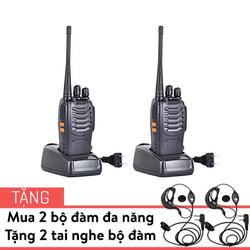 Combo 2 bộ đàm đa năng Baofeng BF-888s kèm 2 tai nghe chuyên dụng
