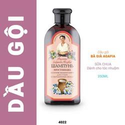 Dầu gội sữa chua Bà già Agafia Nga - dành cho tóc khô, tóc nhuộm