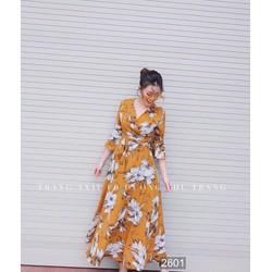 Đầm Maxi voan họa tiết hoa