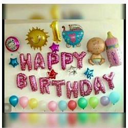 Bóng trang trí chữ Happy birthday