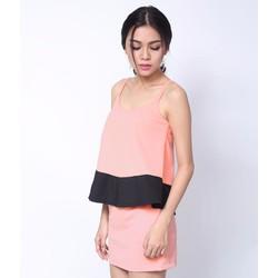 Set Áo Dây Và Chân Váy Pink