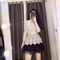 Set váy lưới áo ren _MỎ CHU SHOP