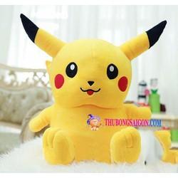 Gấu bông Pikachu ngồi nhồi bông đáng yêu size nhỏ 15 cm