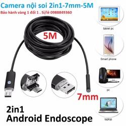 Camera nội soi chống nước 2in1-7mm-dài 5m