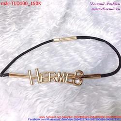 Thắt lưng đầm Hermes sợi nhỏ cao cấp thời trang sành điệu TLD100