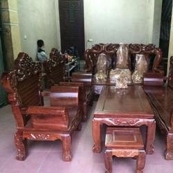 Bộ bàn ghế Hoàng Gia - Luis Gỗ Hương