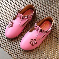 giày búp bê đính hoa cho bé gái 1-12 tuổi