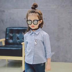 Áo somi thêu thỏ  cho bé gái
