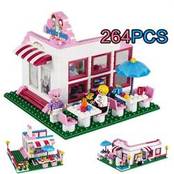 BỘ LEGO CỬA HÀNG BÁN NƯỚC 264 CHI TIẾT - RÁP THÀNH 3 KIỂU
