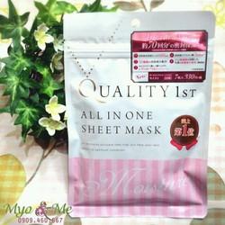 Mặt nạ Quality 1st All In One Sheet Mask màu hồng túi 7 miếng