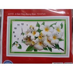 Tranh thêu chữ thập đồng hồ hoa đại A1115-73X47cm