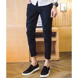 quần dài nam rách cá tính Mã: ND0771 - ĐEN