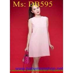 Đầm bầu sát nách kiểu dáng đơn giản xinh đẹp DB595