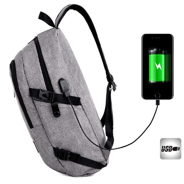 Balo du lịch có cổng xạc tặng cáp USB 4