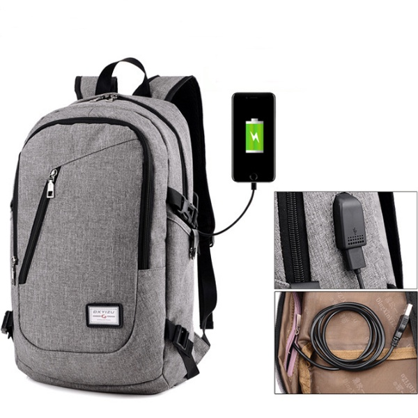 Balo du lịch có cổng xạc tặng cáp USB 5