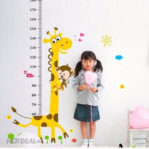 bộ 2 decal đo chiều cao, thước đo chiều cao 1