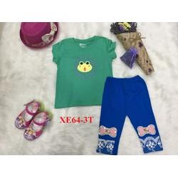 Bộ quần áo trẻ em đáng yêu màu xanh