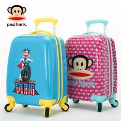 Vali kéo bé tiểu học chính hãng Paul Frank - USA
