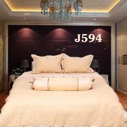 Bộ chăn ga gối drap giường cotton satin thêu Julia 594