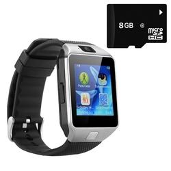 Bộ Smartwatch DZ09 Bạc kèm Thẻ nhớ Micro SD 8GB