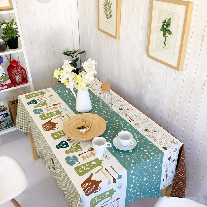 Khăn trải bàn cao cấp họa tiết sọc chấm bi BINBIN KBL05 140x220cm 3