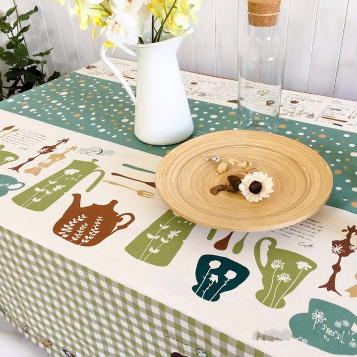 Khăn trải bàn cao cấp họa tiết sọc chấm bi BINBIN KBL05 140x220cm 2