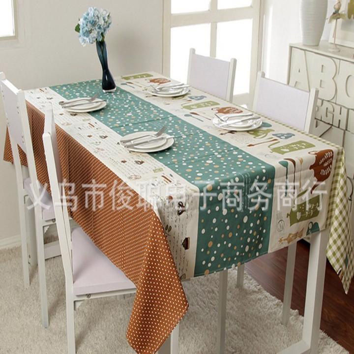 Khăn trải bàn cao cấp họa tiết sọc chấm bi BINBIN KBL05 140x220cm 1