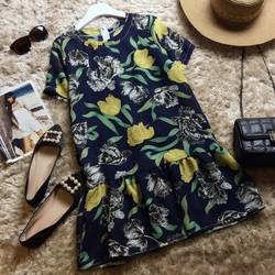 Đầm voan hoa bèo lai