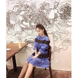 Đầm xoè viền ren _MỎ CHU SHOP