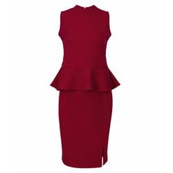 Set Áo Đuôi Cá + Chân Váy Ôm Xẻ Tà Sexy - Đỏ