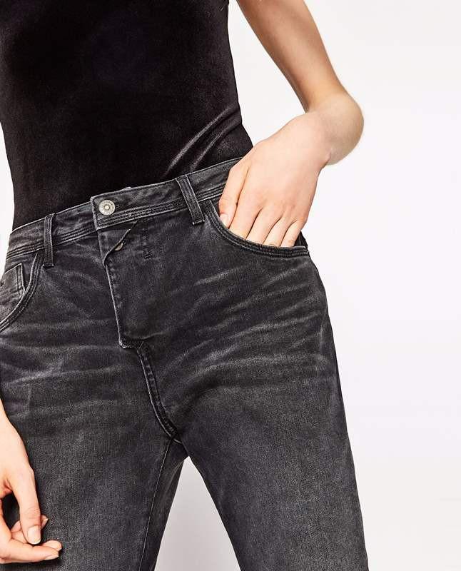 Quần jean đen xám nhập Mỹ 5